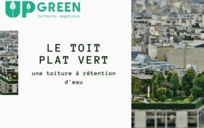 Le toit plat végétal, une toiture à rétention d'eau