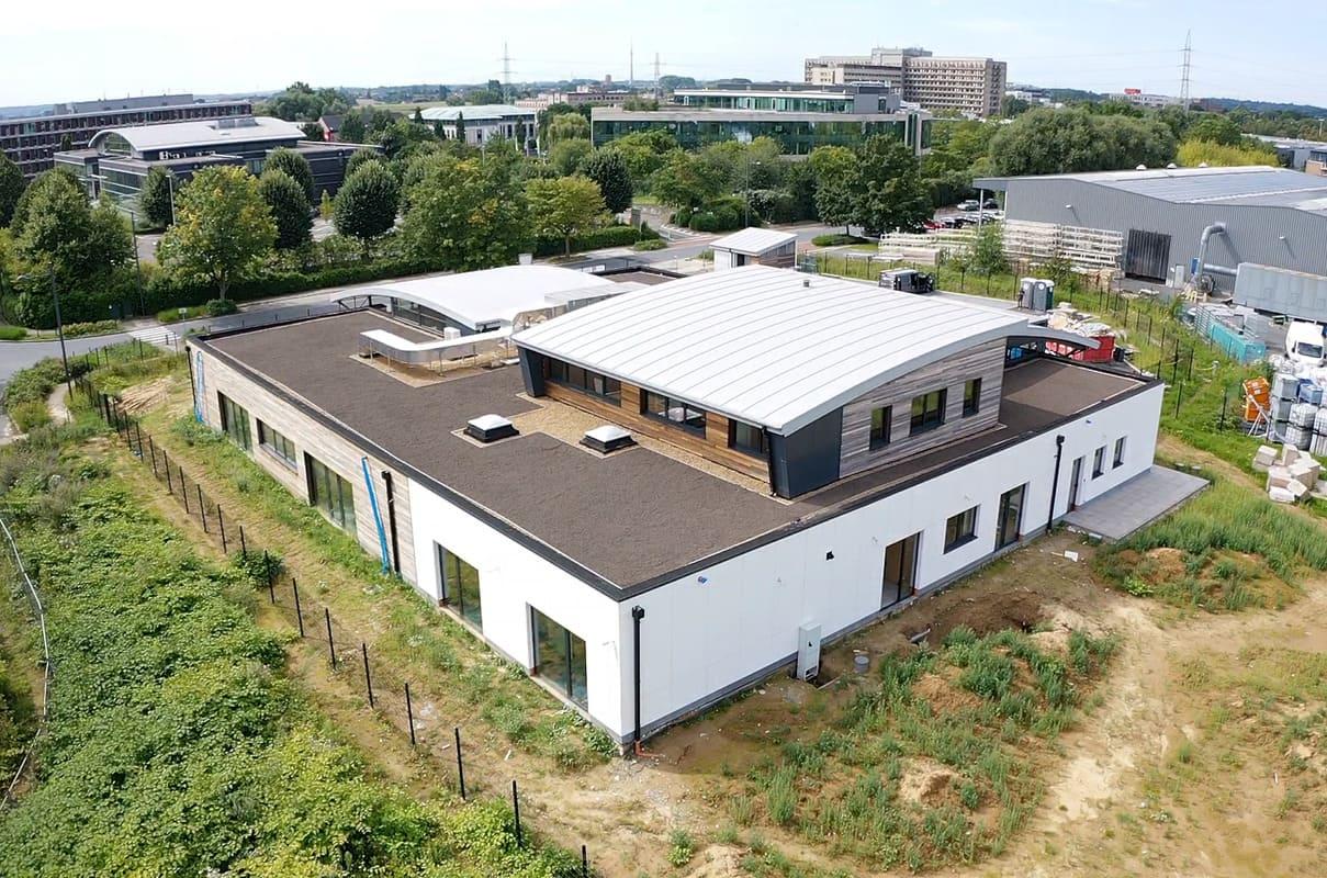 Réalisation d'un toit végétalisé à Liège
