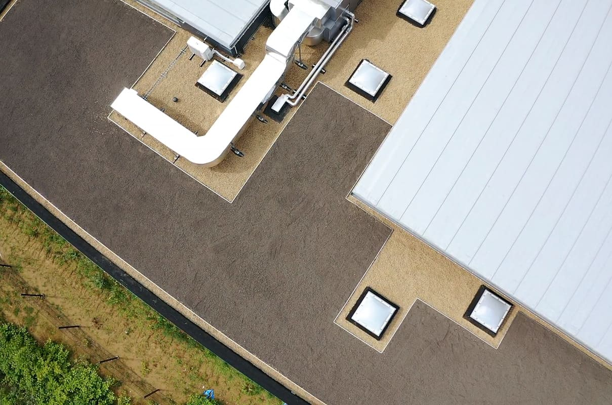 Réalisation d'un toit vert à Liège en Belgique